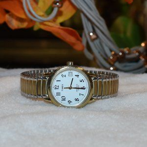 Vintage Timex Indiglo Quartz Watch Two-Tone Band